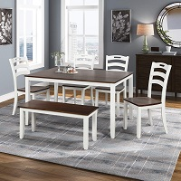 Best Wooden Dining Table 4 Chairs & Bench Rundown