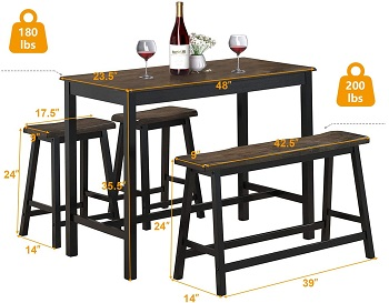 Costway Counter Height Dining Set