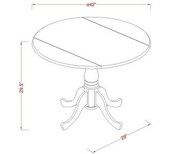 East West Furniture Dublin Table