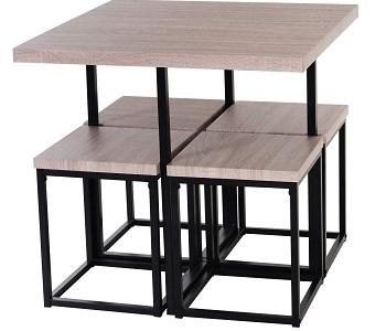 HOMCOM Dining Room Table Chair Set