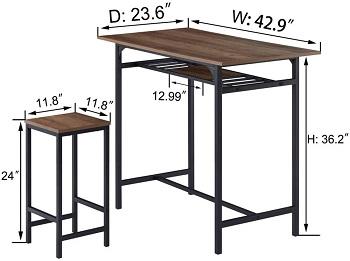 IBF Modern Bar Table Set