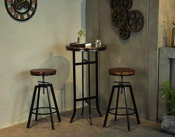 Joelgium Cocktail Pedestal Table