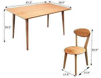 Mecor Oak Dining Table Set