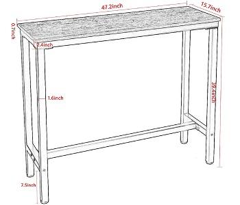 Mr Ironstone Bar Table
