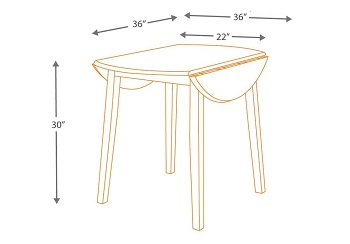Signature Design Drop Leaf Table