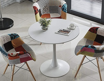 Tomile 32 Inch White Tulip Table