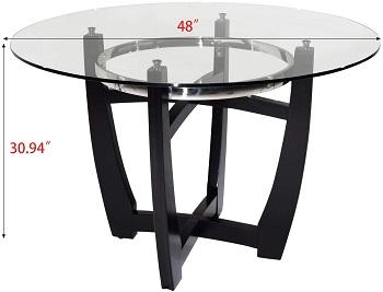 Best Glass 48 Round Pedestal Table