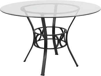 Best Metal 48 Inch Round Pedestal Dining Table