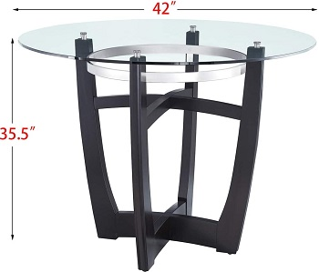 Best Of Best 42 Inch Round Glass Dining Table