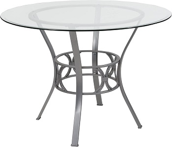 Best Pedestal 42 Inch Round Glass Dining Table
