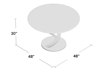 Best Pedestal 48 Inch Round Glass Dining Table