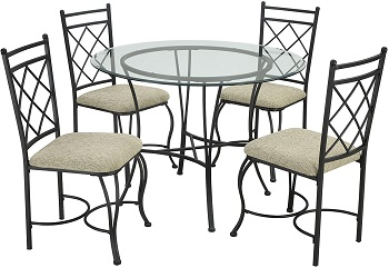 Best Set 42 Inch Round Glass Dining Table