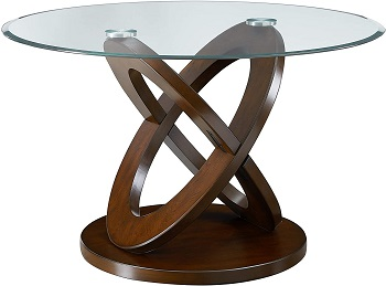 Best Set 48 Inch Round Glass Dining Table