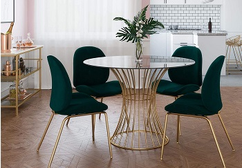 Best Tempered 42 Inch Round Glass Dining Table