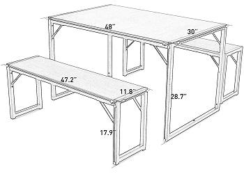 Decok 3-Piece Dining Table Set