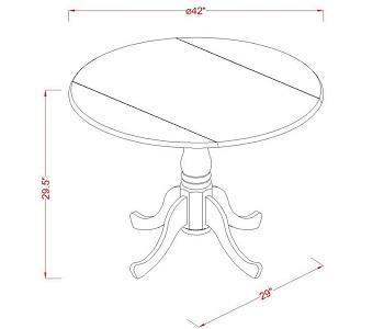 East West Furniture Pedestal Table