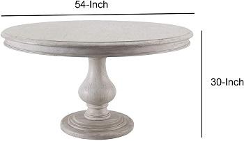 Benjara Round Dining Table