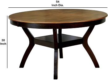 Benjara Round Table With Angled Legs