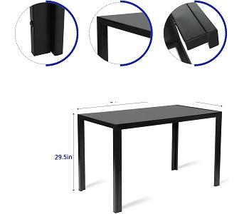 Best Glass Black Dining Room Set For 6