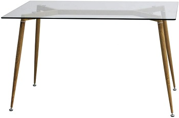 Best Glass Mid Century Modern 5 Piece Dining Set
