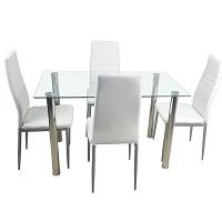 Best Glass White 5 Piece Dining Set Rundown