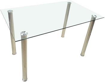 Best Glass White 5 Piece Dining Set
