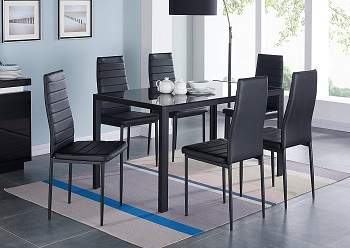 Best Modern Black Dining Room Set With 6 Chairs