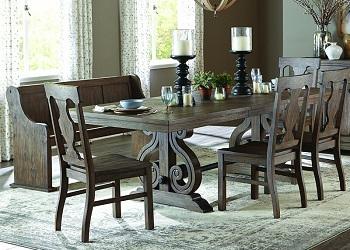 Best Oak Extendable Dining Table Set For 6