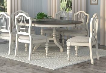 Best Round Extendable Dining Table Set With 6 Chairs
