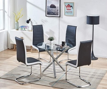 Best Small Silver 5 Piece Dining Set