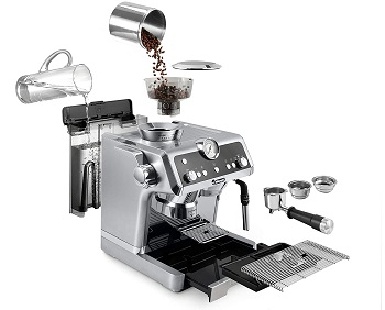 Best With Grinder Commercial Latte Machine