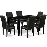 Best Wooden Black Dining Room Set With 6 Chairs Rundown