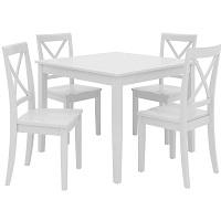 Best Wooden White 5 Piece Dining Set Rundown