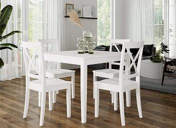 Best Wooden White 5 Piece Dining Set