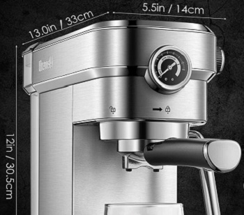 Brewsly 15 Bar Espresso Machine