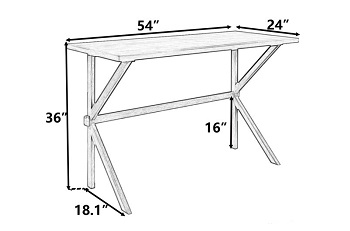 Gracie Oaks Counter Height Table