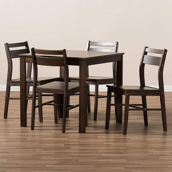 best wooden modern 5 piece dining set