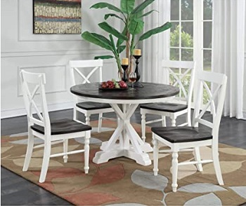 modern 54 round pedestal dining table