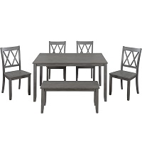 Best Antique Farmhouse Dining Table Set For 6 Rundown
