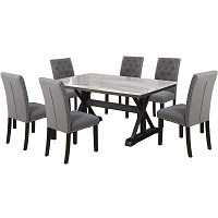 Best Big Faux Marble Dining Table With 6 Chairs Rundown