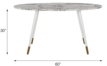 Best Cheap White Oval Dining Table For 6