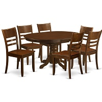 Best Espresso Round Dining Table Set For 6 With Leaf Rundown