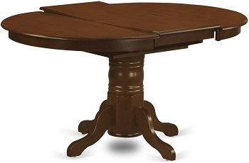 Best Espresso Round Dining Table Set For 6 With Leaf