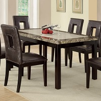 Best Faux Leather Faux Marble Dining Table With 6 Chairs Rundown