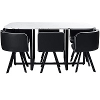 Best Modern Faux Marble Dining Table With 6 Chairs Rundown