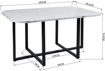 Best Modern Faux Marble Dining Table With 6 Chairs