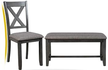 Best Modern Grey 6 Piece Dining Set With Bench