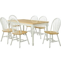 Best Oak Solid Wood Dining Table With 6 Chairs Rundown