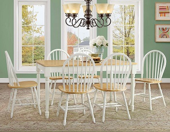 Best Oak Solid Wood Dining Table With 6 Chairs