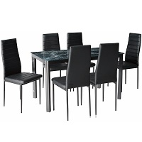 Best Of Best Faux Marble Dining Table With 6 Chairs Rundown
